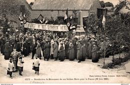 1590-2019    GIZI   BENEDICTION DU MONUMENT DE NOS SOLDATS MORTS POUR LA FRANCE - Autres Communes