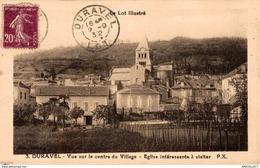 1651-2019    DURAVEL  VUE SUR LE CENTRE DU VILLAGE  EGLISE INTERESSANTE A VISITER - Francia