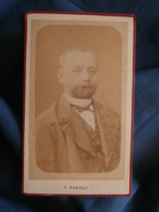 Photo CDV  V. Barras Servrancx à Liège  Portrait Homme Barbu  (1877) - L458 - Antiche (ante 1900)
