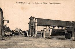 1976-2019        BENAIS   LA SALLE DES FETES   RUE PRINCIPALE - Francia