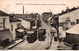 2013-2019     ROANNE  RUE DE CLERMONT  EGLISE ST LOUIS ET RUE BRISON - Roanne