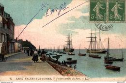 5316 -2019        ST VALERY SUR SOMME  VOILIERS SORTANT DU PORT - Saint Valery Sur Somme
