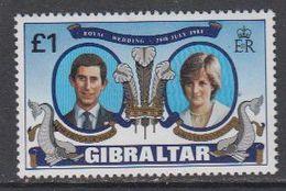 Gibraltar 1981 Royal Wedding Charles & Diana 1v ** Mnh (44351) - Gibraltar