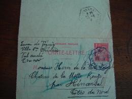 Matignon A Saint Brieuc Cachet Ambulant Convoyeut Poste Ferroviaire Sur Lettre - Storia Postale