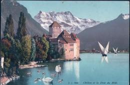 POSTAL SUIZA - CHILLON ET LA DENT DU MIDI - J J 7634 - VD Vaud