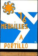 Plaquette 16 Médailles à Portillo Championnats Du Monde De Ski 1966 Jean Claude Killy Lacroix Vogler Famose Goitschel - Sports D'hiver