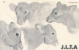 JAPAN Telefonkarte - 110-139525 - Kuh, Rind  - Siehe Scan - Kühe