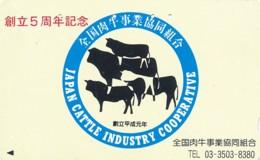 JAPAN Telefonkarte - 110-162423 - Kuh, Rind  - Siehe Scan - Kühe