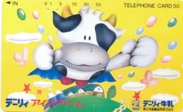 JAPAN Telefonkarte - 390-14067- Kuh, Rind  - Siehe Scan - Kühe