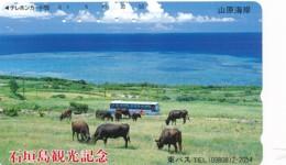JAPAN Telefonkarte - 390-13008- Kuh, Rind  - Siehe Scan - Kühe