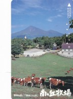 JAPAN Telefonkarte - 110-011 - Kuh, Rind  - Siehe Scan - Kühe