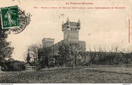 2836-2019    CHATEAU FEODAL DE TERRIDE  ENTRE CASTELSARASIN ET BEAUMONT - France