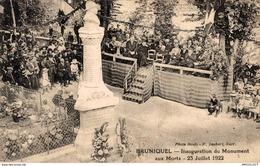 3235-2019      BRUNIQUEL  INAUGURATION DU MONUMENT AUX MORTS 23/07/1922 - France