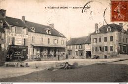 3351-2019     ST LEGER SUR DHEUNE   LA PLACE DU MARCHE - Francia