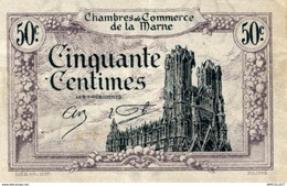 6886-2019    BILLET CHAMBRE DE COMMERCE  DE LA MARNE - Chambre De Commerce
