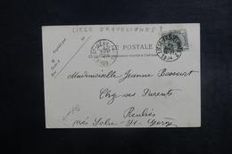 """BELGIQUE - Oblitération Ambulant """" Liège - Erquelinnes 2 """" Sur Carte Postale ( Lobbes ) En 1904 - L 40698 - Belgique"""