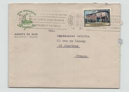 """Espagne Enveloppe à En-tête """" Hotel Restaurante Arymar """" Du 12 Avril 1972 Pour Chartres - 1931-Tegenwoordig: 2de Rep. - ...Juan Carlos I"""