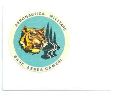 Aeronautica Militare - Base Aerea Cameri -  Adesivo Su Cartolina - Altri