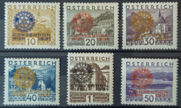 AUSTRIA 1931 - MLH - ANK 518-523 - Rotary Convention 1931 - Neufs