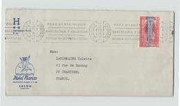 """Espagne Enveloppe  à En-tête  """" Hotel Planas """" à Salou Du 14 Avril 1972 Pour Chartres - 1931-Tegenwoordig: 2de Rep. - ...Juan Carlos I"""