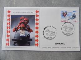 FDC MONACO 2014 : Jeux Olympiques D'hiver De Sotchi (Russie) - FDC