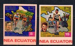 ETP359 - GUINEA EQUATORIALE 1972, AEREA Serie NON Dentellata. ***  MNH (2380A) . TOUR FRANCE - Ciclismo