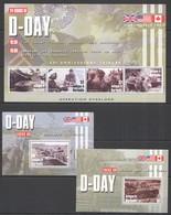 W902 ANTIGUA & BARBUDA WORLD WAR II D-DAY #4148-51 MICHEL 16,5 EURO 2BL+KB MNH - 2. Weltkrieg