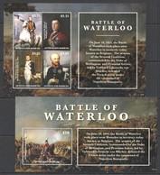 W903 2015 ANTIGUA & BARBUDA WAR BATTLE WATERLOO #5300-4 MICHEL 23 EURO BL+KB MNH - Geschichte