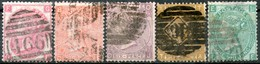 Great Britan,1865 Queen Victoria Large Font,Mi#23/27 Used As Scan - 1840-1901 (Viktoria)
