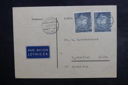 POLOGNE - Carte De Correspondance De Varsovie Pour Pontarlier En 1937 - L 40714 - 1919-1939 République