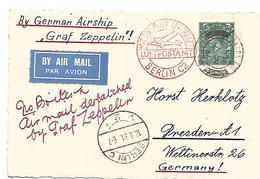 GBG049 / GR. BRITANNIEN - London 17.8.31 - Ankunft Berlin 18.8.31 (Graf Zeppelin) - Briefe U. Dokumente