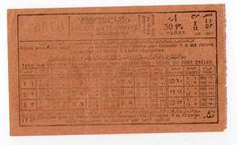 Ticket Société Des Tramways De Constantinople TURQUIE TURKEY Années 1920 30 Paras - Tram