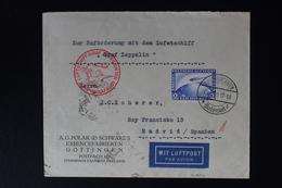 DEUTSCHE REICH UMSCHLAG 1930 ZEPPELIN SUDAMERIKAFAHRT  SI 57 A  MI 423 - Airmail