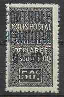 1927 ALGERIE Colis Postaux 19** Contrôle Répartiteur, Surchargé - Paquetes Postales