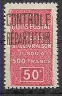 1927 ALGERIE Colis Postaux 23** Contrôle Répartiteur - Paquetes Postales