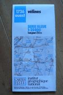 Carte Topographique IGN - 1736 Ouest - Vélines (Dordogne) - 1:25 000 - Topographical Maps