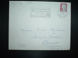LETTRE TP M. DE DECARIS 0,25 OBL.MEC.27-2 1963 DIJON GARE COTE D'OR (21) FOIRE GASTRONOMIQUE ALIMENTATION VINS - Wijn & Sterke Drank