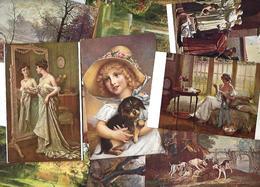 Lot 2042 De 10 CPA Salon De Paris Tableaux Déstockage Pour Revendeurs Ou Collectionneurs - 5 - 99 Karten