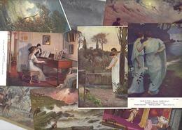 Lot 2043 De 10 CPA Salon De Paris Tableaux Déstockage Pour Revendeurs Ou Collectionneurs - 5 - 99 Karten