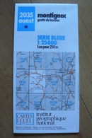 Carte Topographique IGN - 2035 Ouest - Montignac / Grotte De Lascaux (Dordogne) - 1:25 000 - Topographical Maps