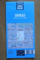 Carte Topographique IGN - 1737 Est - Duras (Lot & Garonne) - 1:25 000 - Topographical Maps