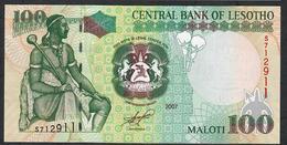LESOTHO P19d 100 MALOTI 2007 UNC. - Lesoto