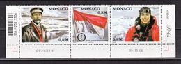 Monaco 2652 2654 Année Polaire Triptyque 2008 Daté TB ** MNH SIN CHARNELA Prix De La Poste 2.55 - Neufs