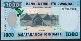 RWANDA P39  1000  FRANCS  2015 #BF  UNC. - Ruanda