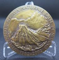 0086 - MÉDAILLE RÉSERVE NATURELLE SALSE DI NIRANO Italie 2002 - Bronze - Ginevra - Italy