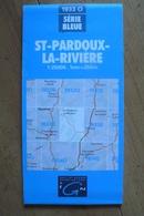 Carte Topographique IGN - 1933 Ouest - St-Pardoux-la-Rivière (Dordogne) - 1:25 000 - Cartes Topographiques