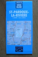 Carte Topographique IGN - 1933 Ouest - St-Pardoux-la-Rivière (Dordogne) - 1:25 000 - Topographical Maps