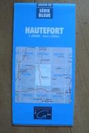Carte Topographique IGN - 2034 Ouest - Hautefort (Dordogne) - 1:25 000 - Topographical Maps