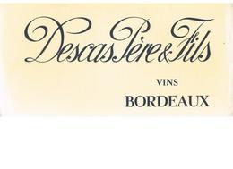 BUVARD : DESCAS PERE & FILS VINS DE BORDEAUX - Liqueur & Bière