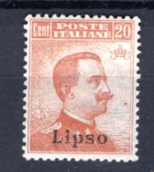 1917/21  - ISOLE ITALIANE DELL'EGEO: LIPSO -  Italia - Catg. Unif.  11 -  Firmato. Biondi  - LH - (W2019.38..) - Egeo (Lipso)